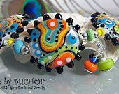 Funky Funkadelic - Art Glass Bracelet made by Michou Pascale Anderson