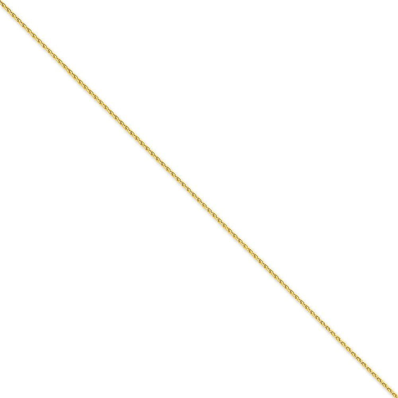 10k White Gold Spiga or Wheat Chain Ankle Bracelet