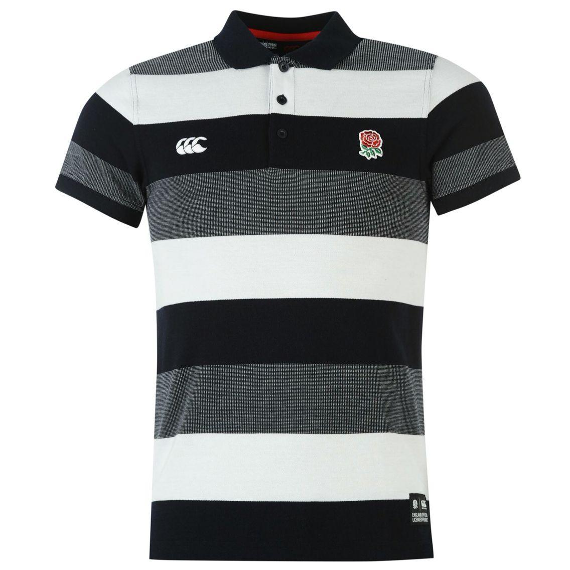 Canterbury England Cotton Stripe Polo Hombre