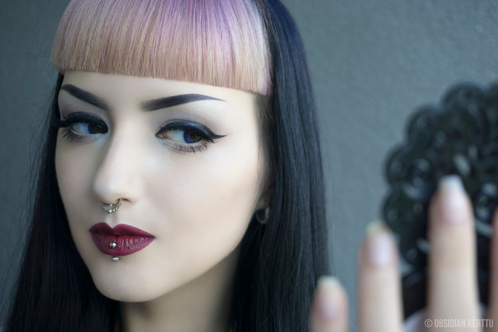Model obsidian kerttu goth goth girl goth fashion goth makeup