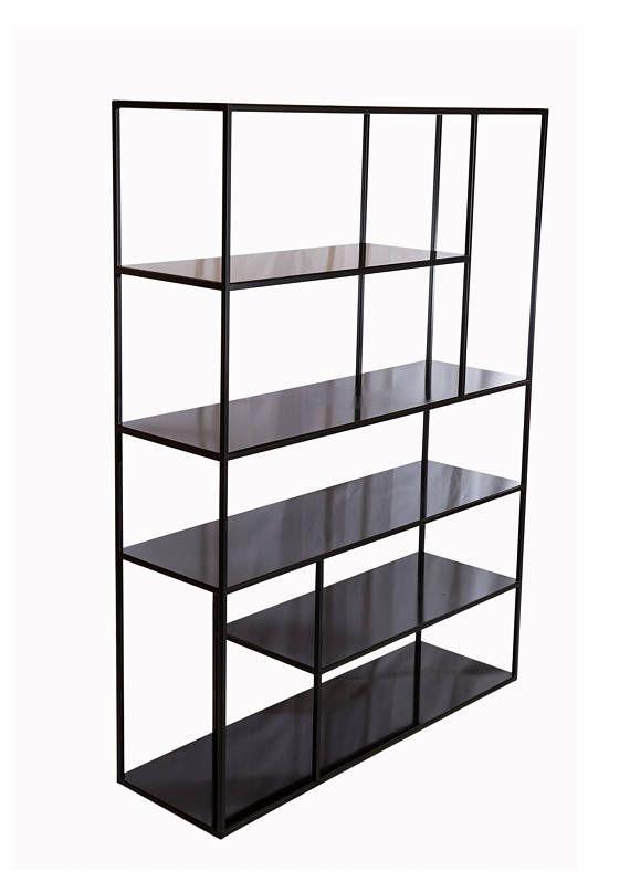 Minimal style iron bookcase arredamento rooms house for Minimal home mobili
