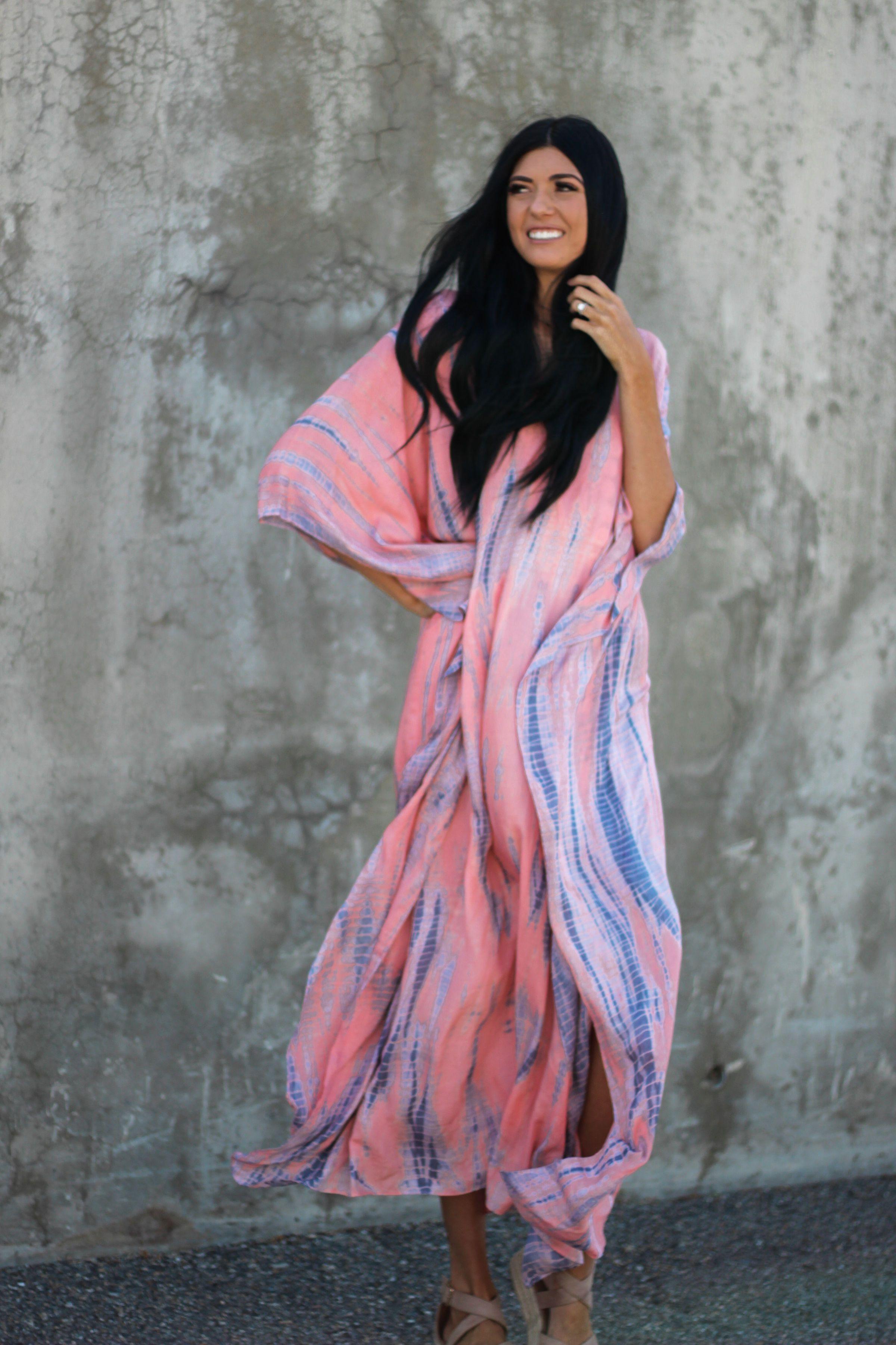 Abaya Dress Tie Dyed Kaftan Pink Maxi Dress Oversized Etsy Pink Maxi Dress Summer Party Dress Cocktail Dresses With Sleeves [ 3600 x 2400 Pixel ]