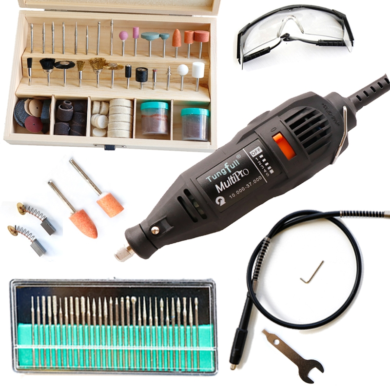 48.38$  Watch now - http://alijfh.shopchina.info/go.php?t=1574795244 - Quality Assurance Tungfull Hardware Variable Speed Rotary Tool,Mini Drill 139pcs Accessories Flexible shaft & practical gift kit 48.38$ #aliexpressideas