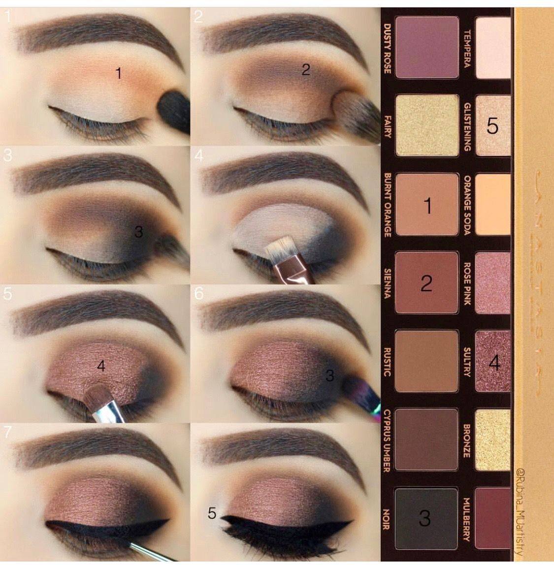 brown smokey eye makeup tutorial with anastasia palette