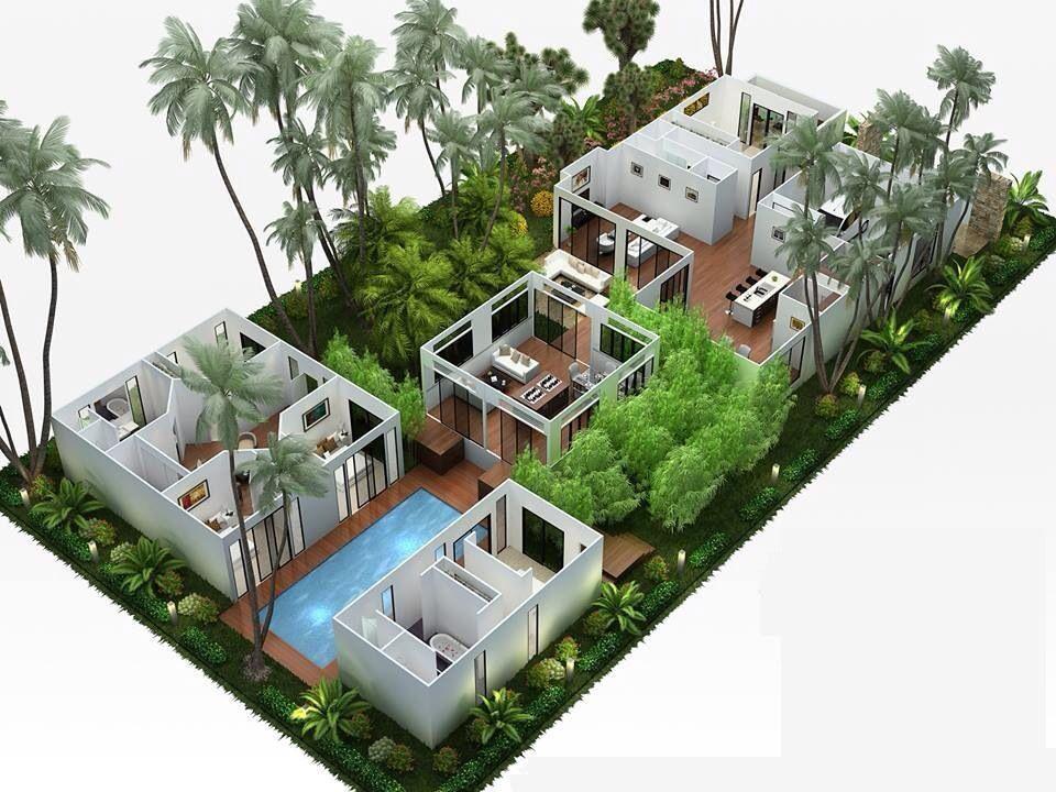 Farm House 3D Plan