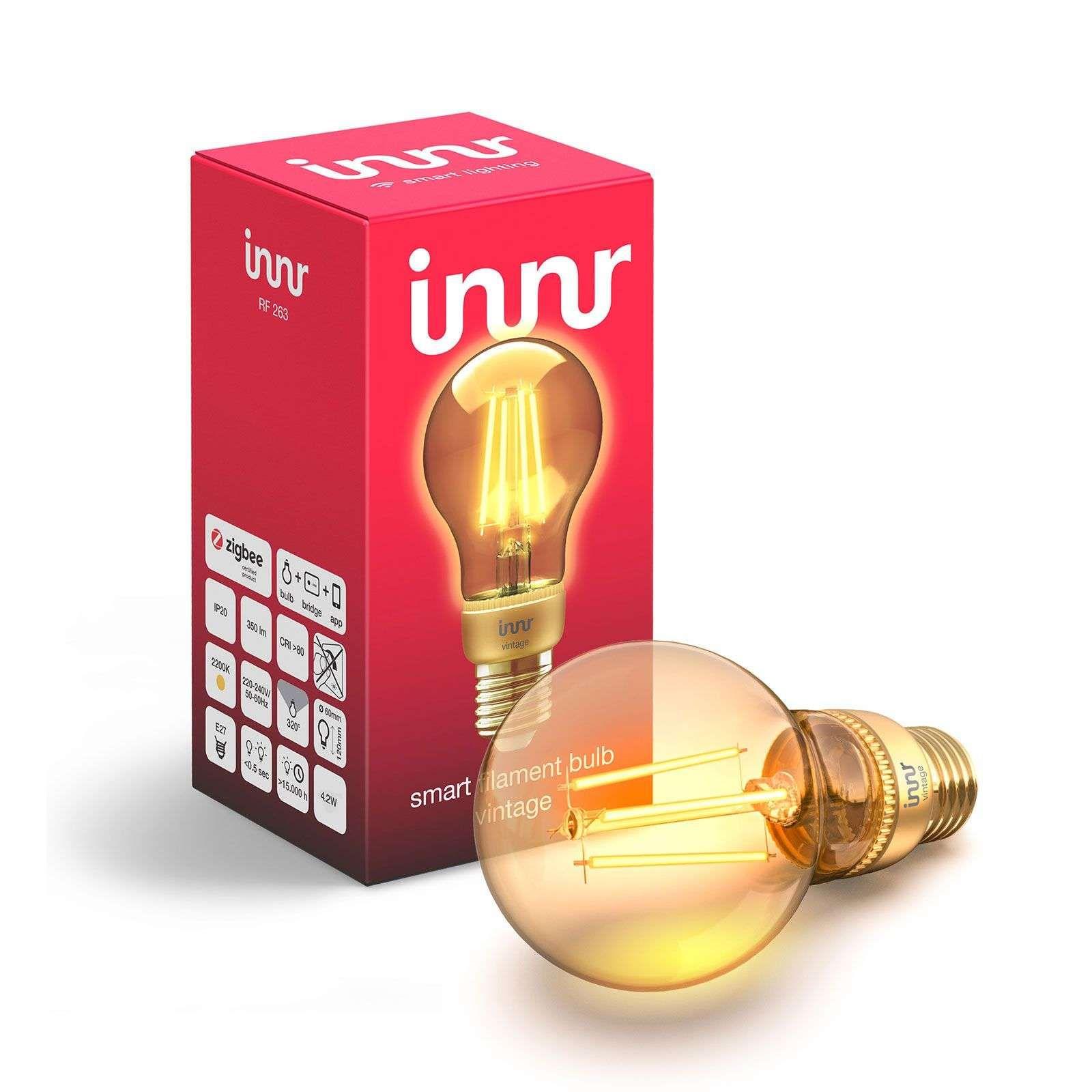 Smart Home Leuchtmittel E27 4 2 W Led Filamentlampe Von Innr Lighting In 2020 Beleuchtung Led Lampe Und Led