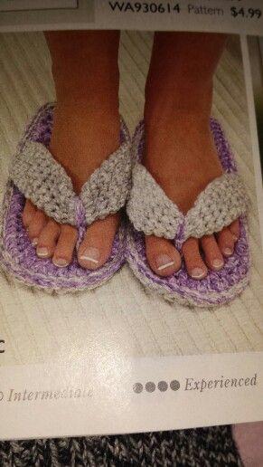 Crochet flops