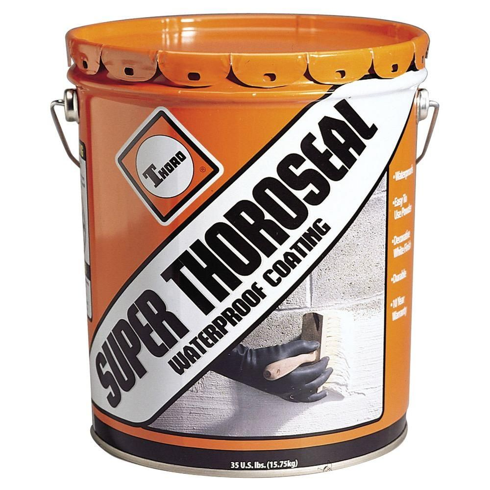 Thoro Super Thoroseal Waterproof Coating T5010 The Home Depot Waterproofing Basement Basement Walls Wet Basement