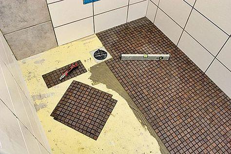 bodengleiche dusche selber bauen 1 pinterest badezimmer dusche einbauen und bad. Black Bedroom Furniture Sets. Home Design Ideas