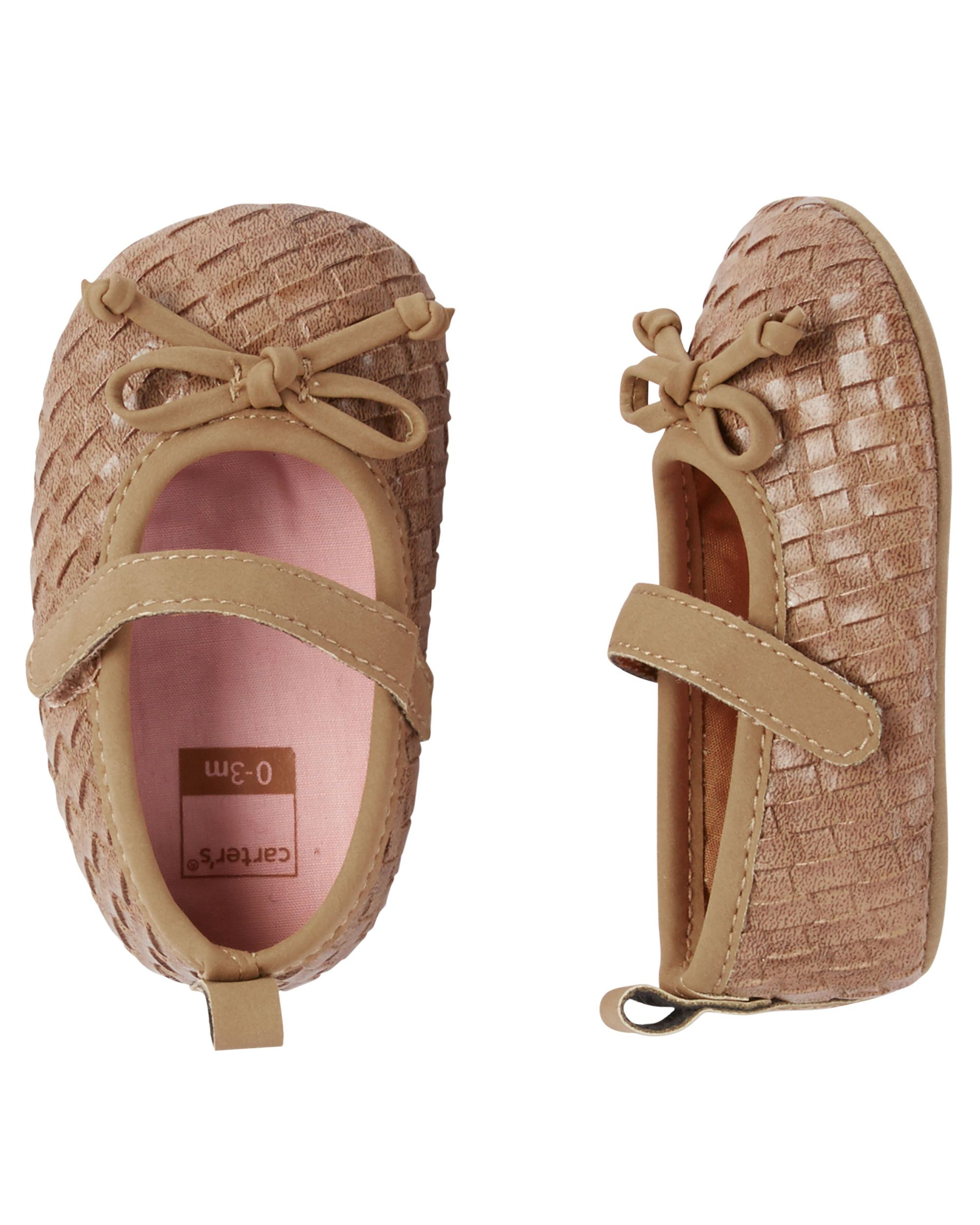 55d26e7c3 Textured Mary Jane Crib Shoes | Carters Fall 2016 | Carters baby ...