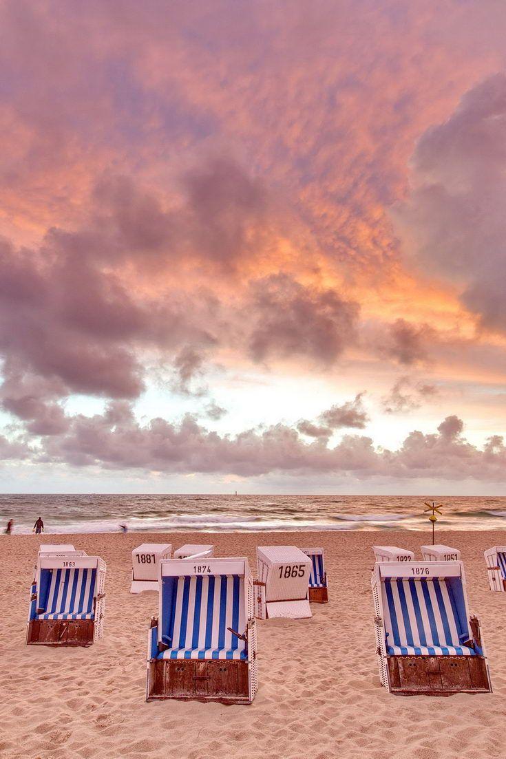 Strand nordsee sonnenuntergang  Sonnenuntergang am Strand von Westerland auf Sylt - Nordsee ...