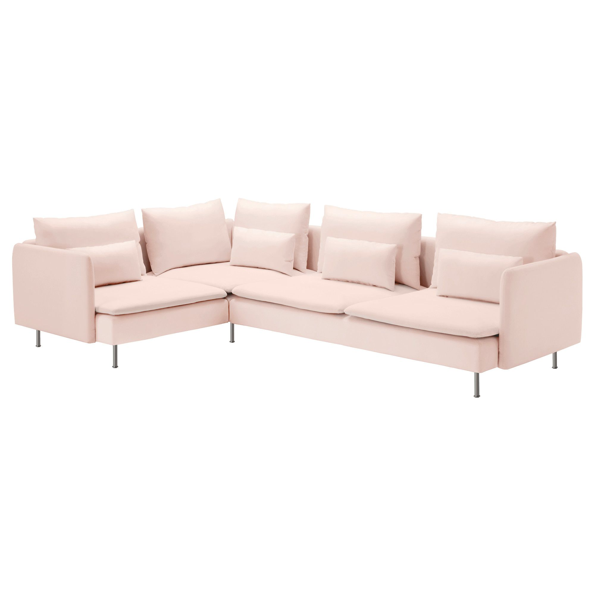 A medium sized living room furnished with a large corner sofa in a