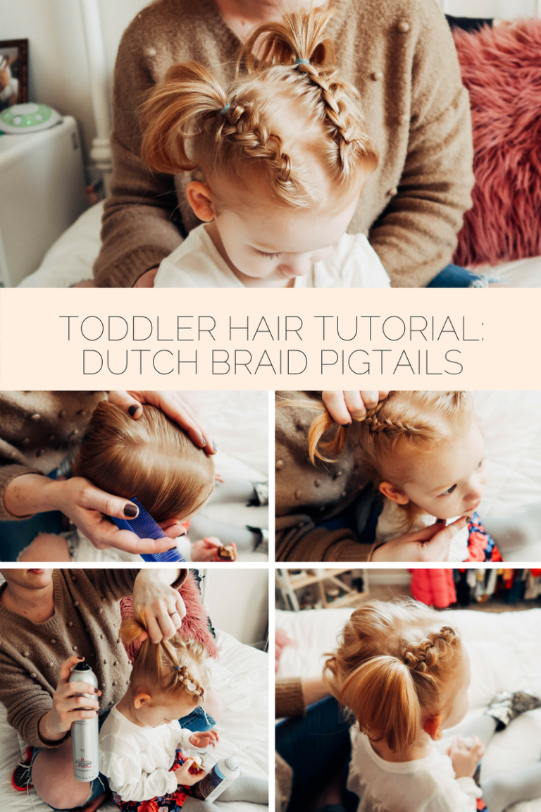 Toddler dutch braid pigtail tutorial tutorials pinterest easy