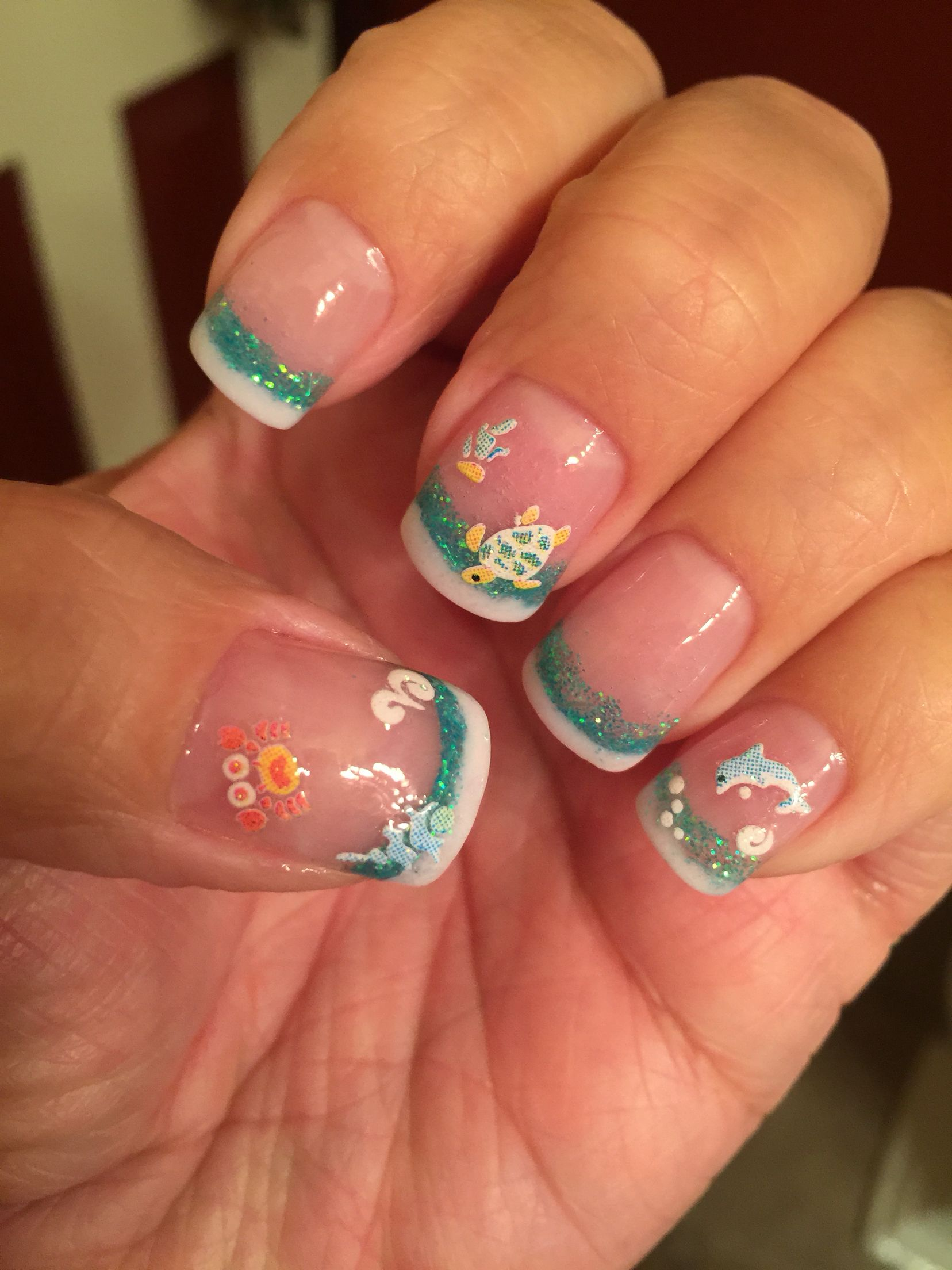 Fun Caribbean nails for my cruise!!! | Make-Up & Nails | Pinterest ...