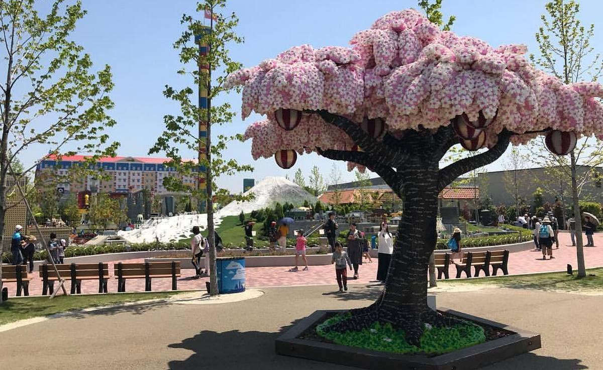 Legoland Japan Now Has A Full Blown Sakura Tree Made From 880 000 Lego Bricks Japon Alimentar