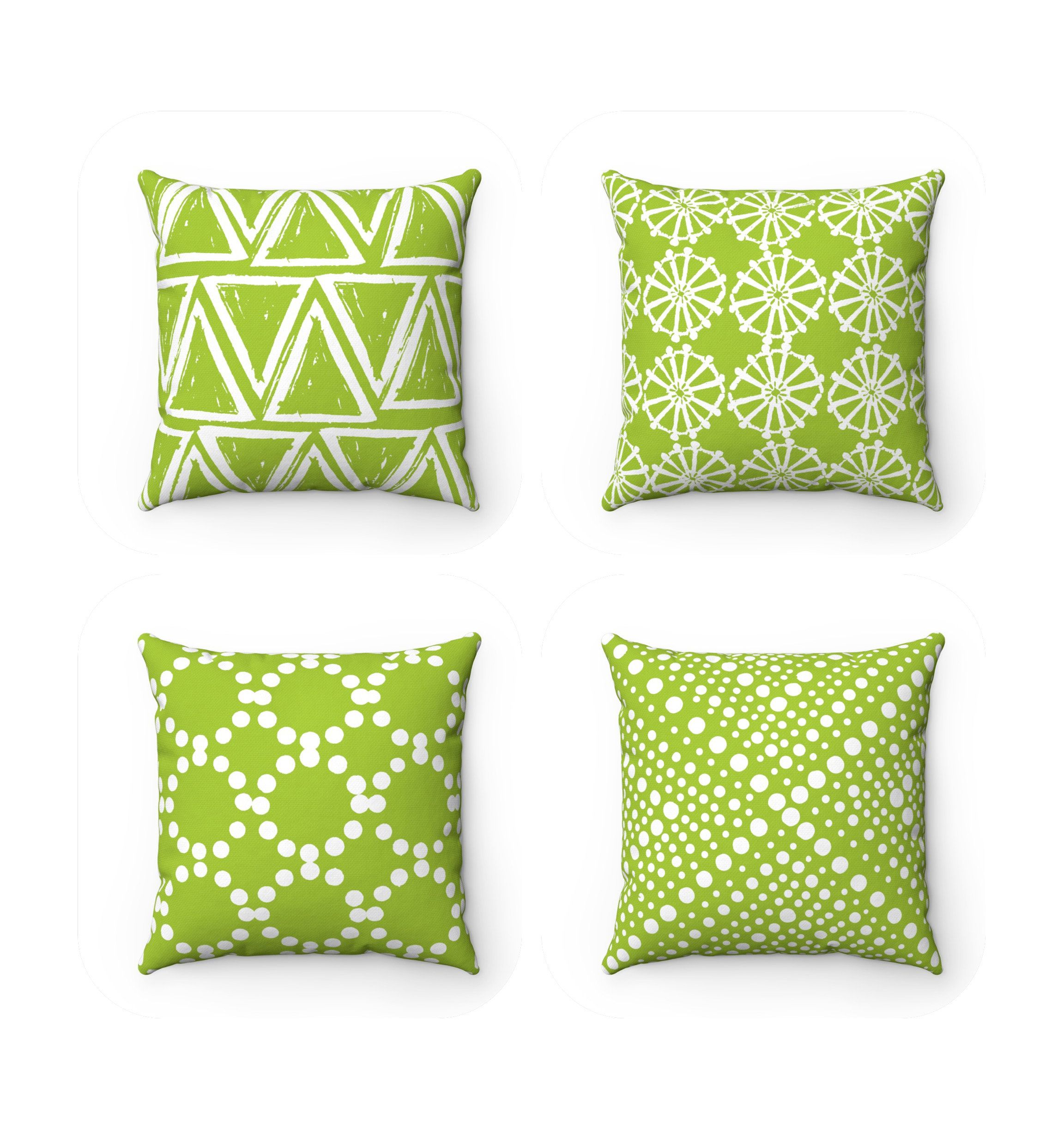Outdoor Throw Pillow Lime Green Outdoor Pillow Lime Patio