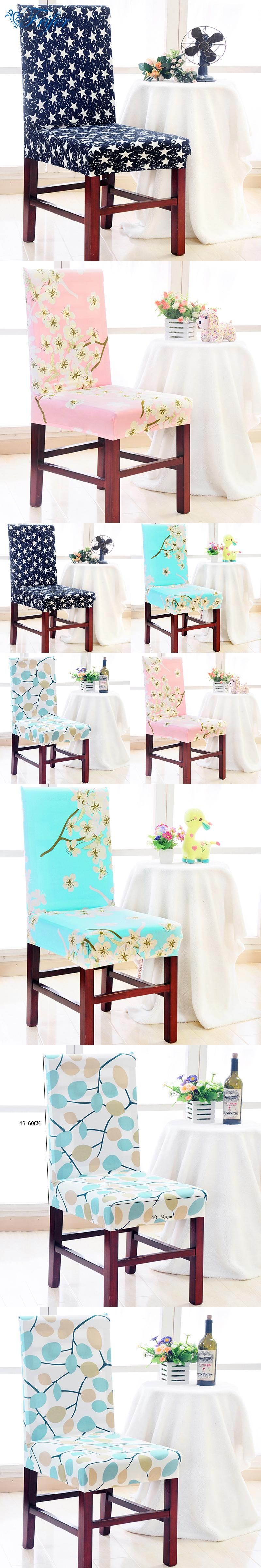 Spandex Stretch Dining Chair Covers Elastic Machine Washable