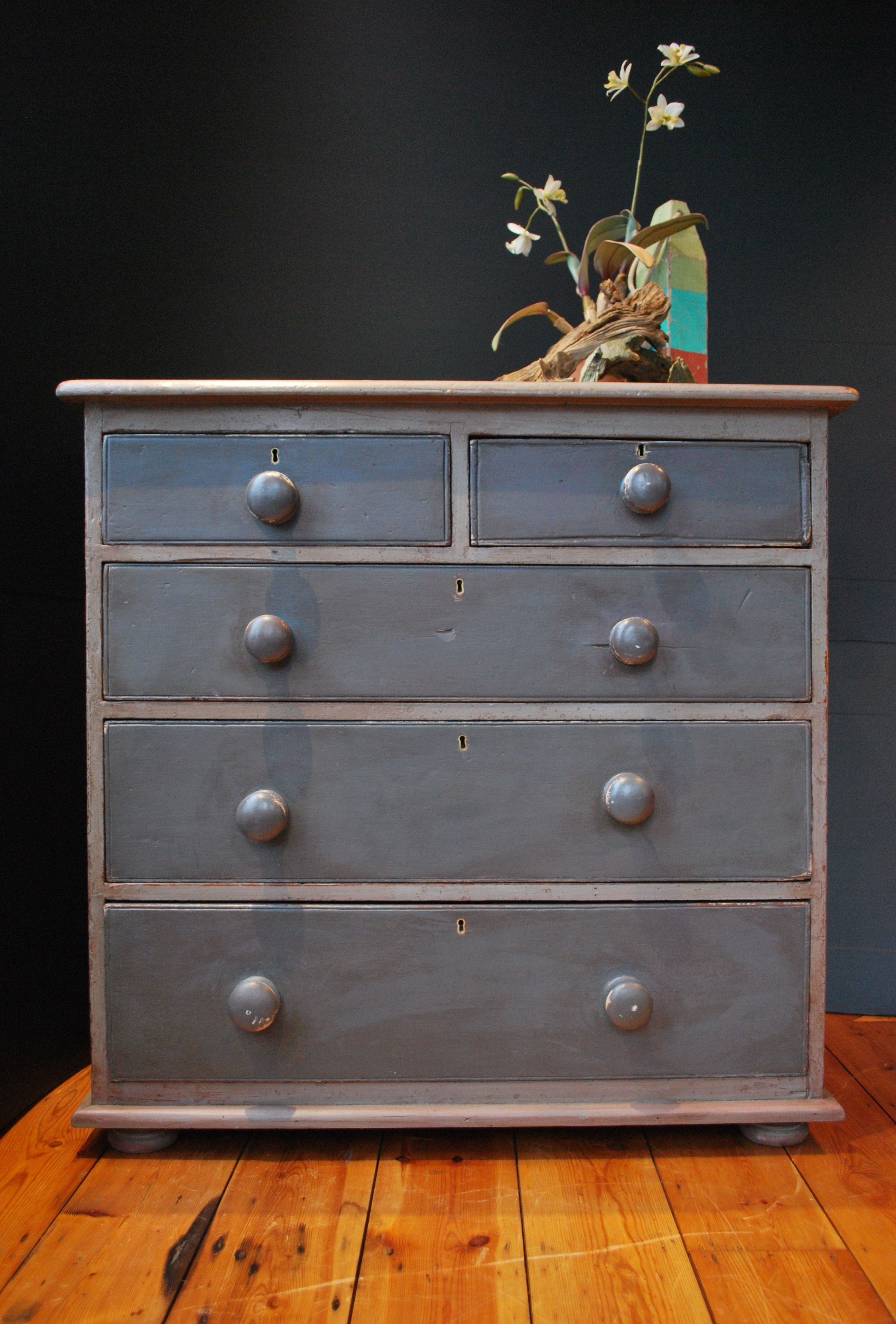 Painted victorian pine chest of dra wers available at