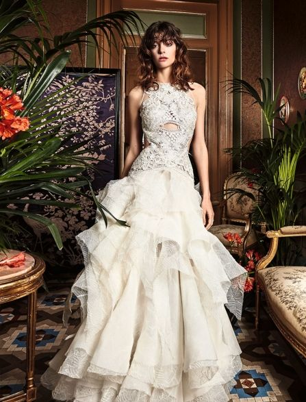 centella, yolan cris, vestido novia, volantes, boho, bohemio, bodas