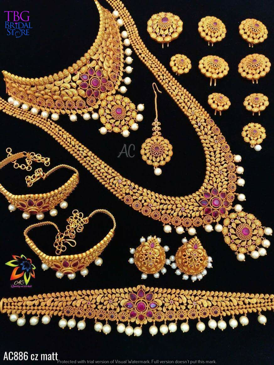 012f45e21 Complete bridal jewellery sets for rent. | South Indian Bridal ...