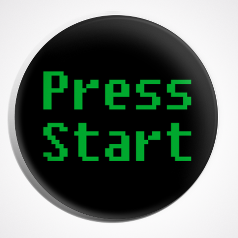 Press Start Video Games Button Pin Badge | Video Game Button