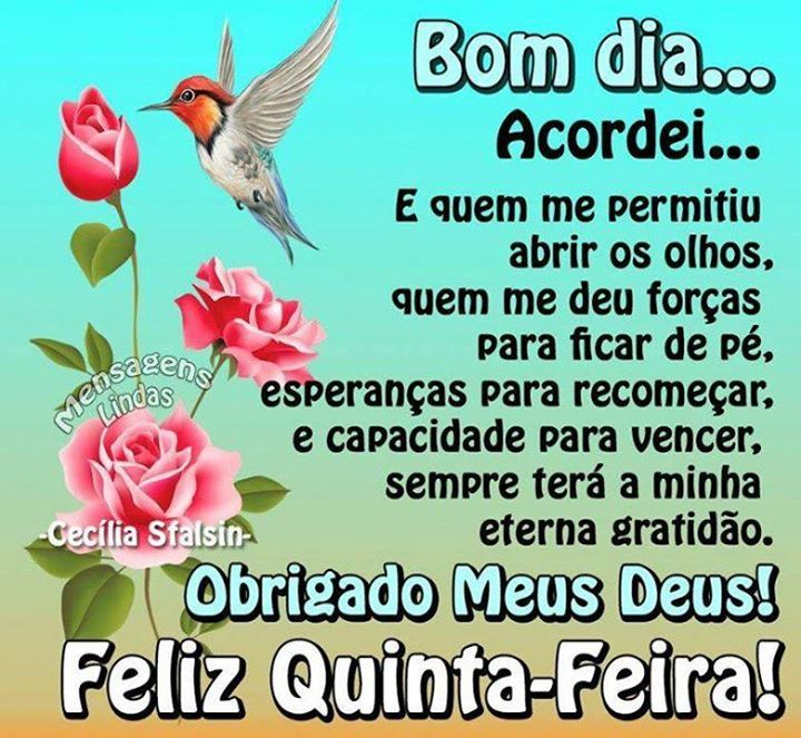 Frases De Bom Dia E Feliz Quinta Feira Para Facebook E Whatsapp