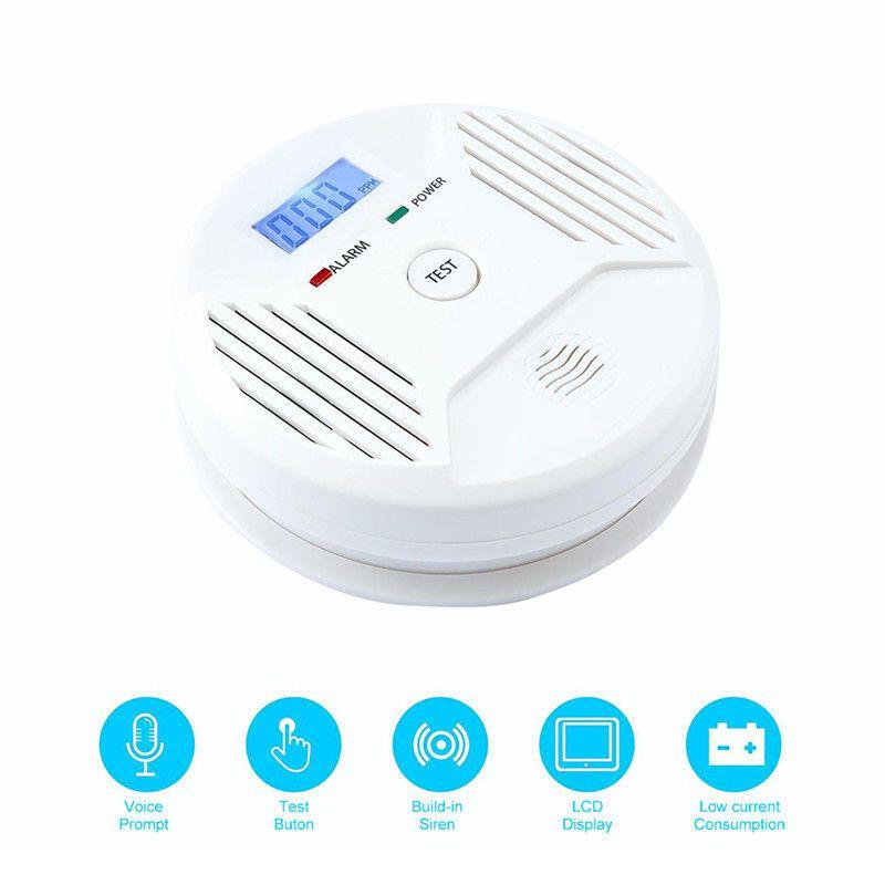 LCD CO Carbon Monoxide Poisoning Smoke Gas Sensor Warning Alarm Detector Tester
