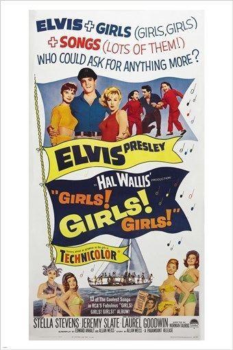Girls Girls Girls Elvis Vintage Movie Poster Collectors Rare Hot 24x36 New Elvis Movies Elvis Presley Movies Elvis Presley