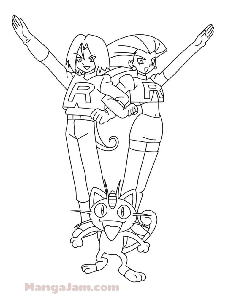 How To Draw James And Jessie From Pokemon Mangajam Com Pokemon Pokemon Engracado Desenhos Animados