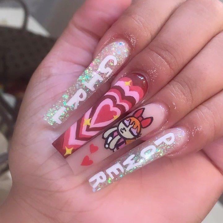 "Marla the Nail Artist on Instagram: ""Girl power ❤️ • • • • • • • • • • #916nails #sacnails #916nailtech #916nailtechs #sacnailtechs #sacnailtech #sacramentonails #nailinspo…"""
