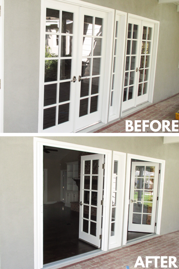 Check Out This Pair Of Double Door Inswing Bright White Stowaway Retractable Screen Doors That Our Team Retractable Screen Door French Doors Retractable Screen