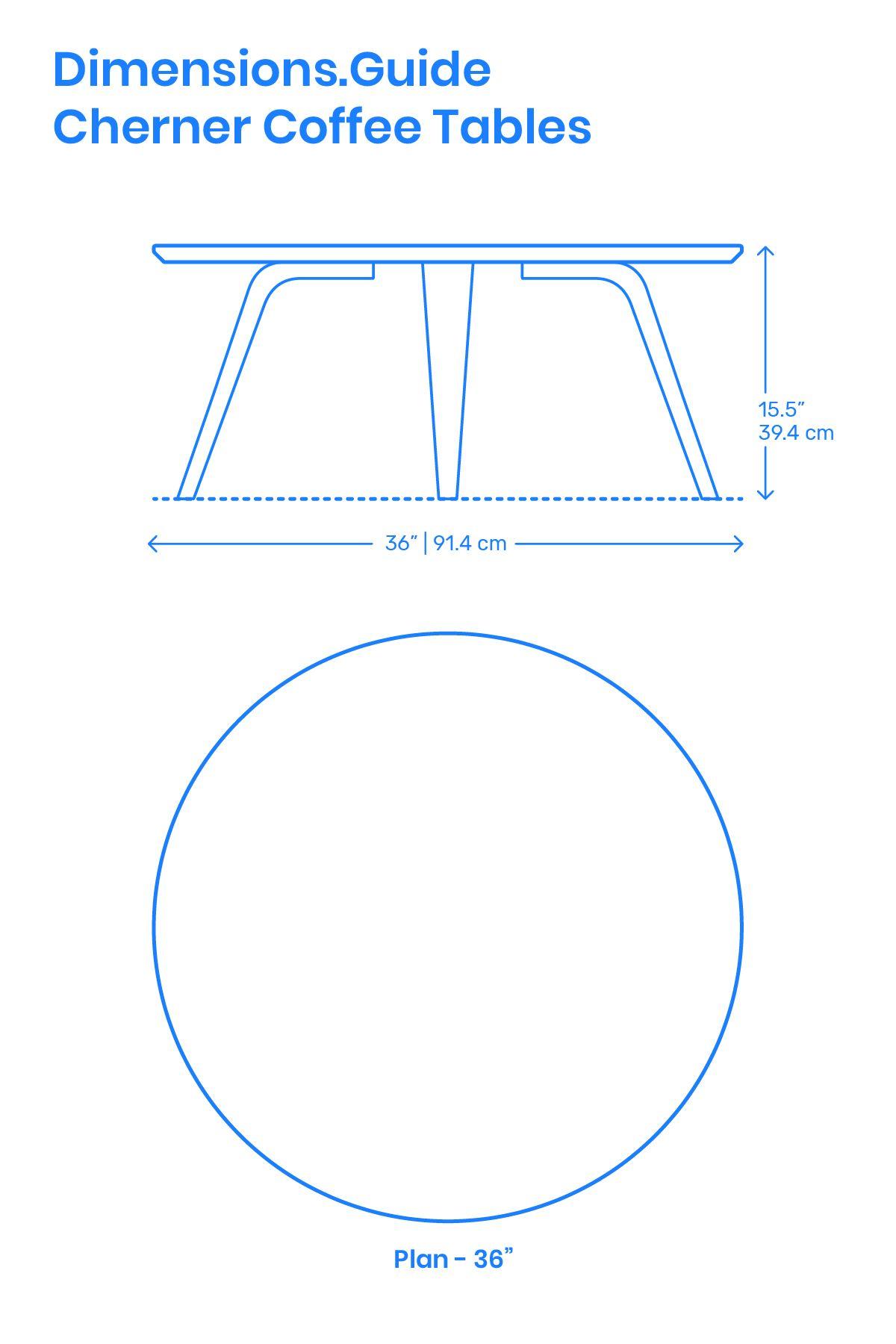 Cherner Coffee Tables Furniture Details Design Coffee Table Dimensions Coffee Table Size [ 1800 x 1200 Pixel ]