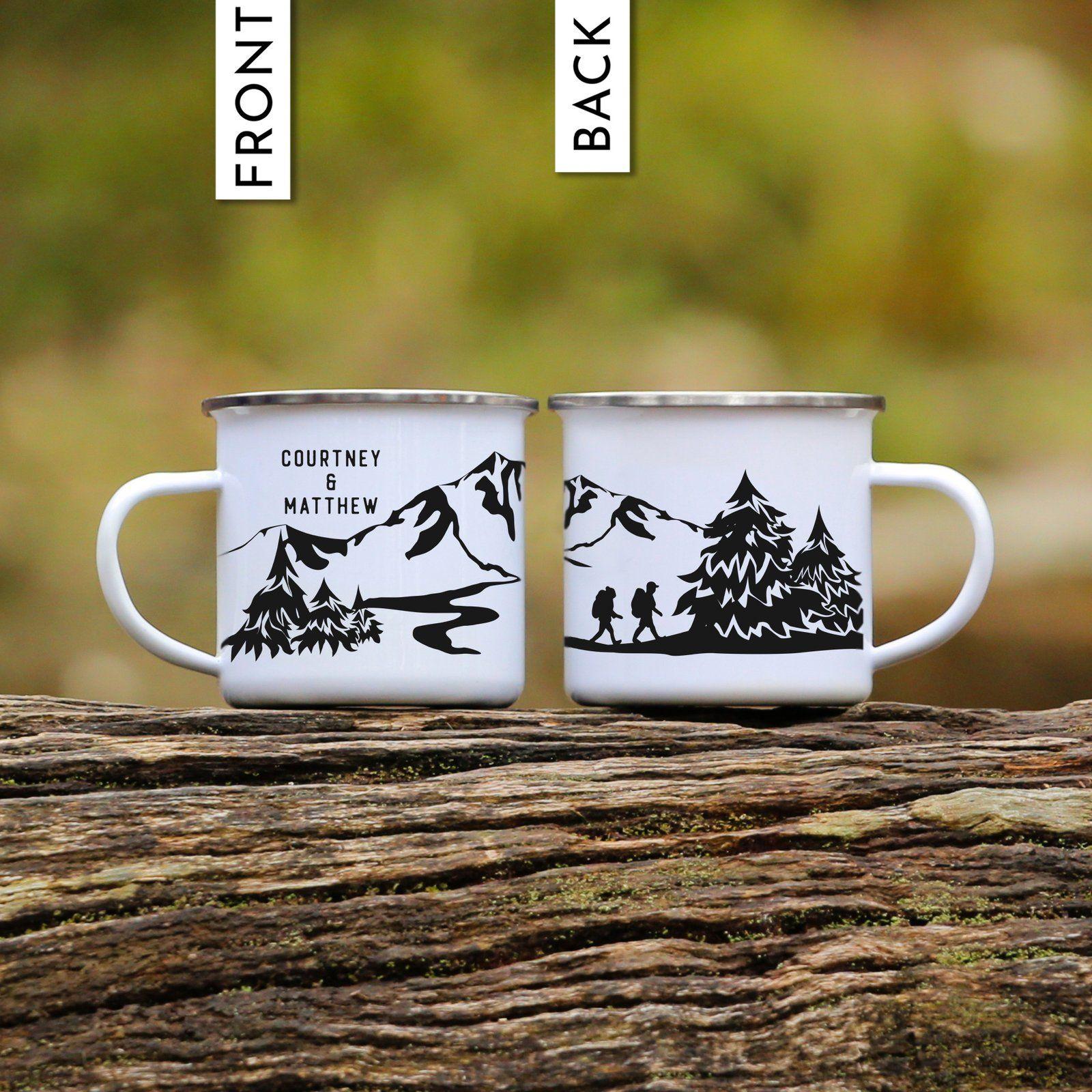 Hiking Mug Personalized Mugs, Personalized coffee mugs