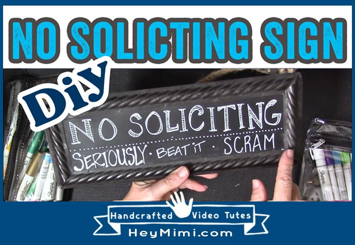How I Made A Custom No Soliciting Sign With An Inexpensive Metal Plaque From Hobby Lobby