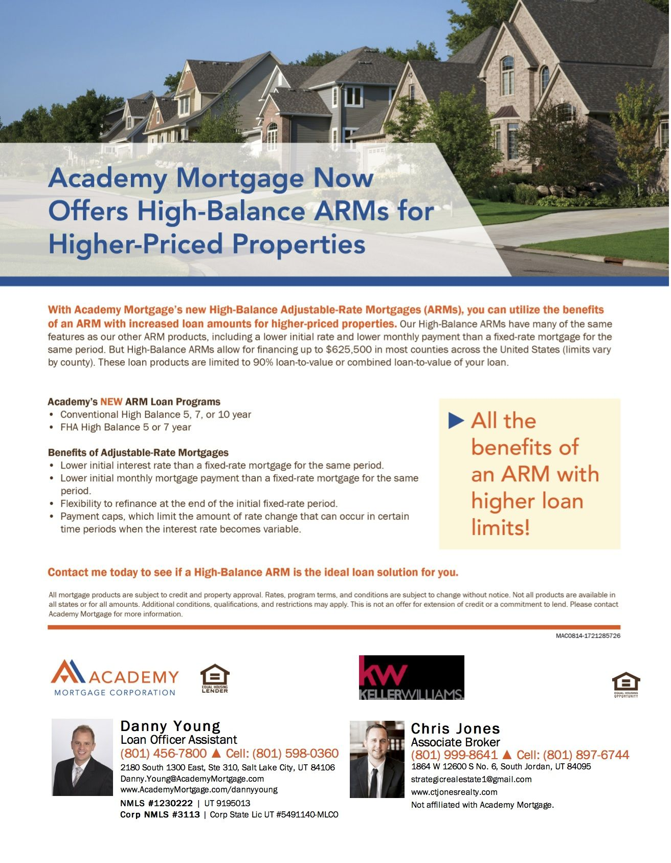 Academy Now Offers High Balance Arms For Higher Priced Properties Adjustable Rate Mortgage Best Mortgage Rates Today Mortgage Assistance