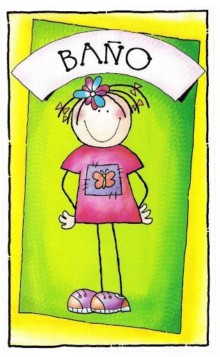 cartel baño niñas   Carteles de baño, Educacion infantil ...