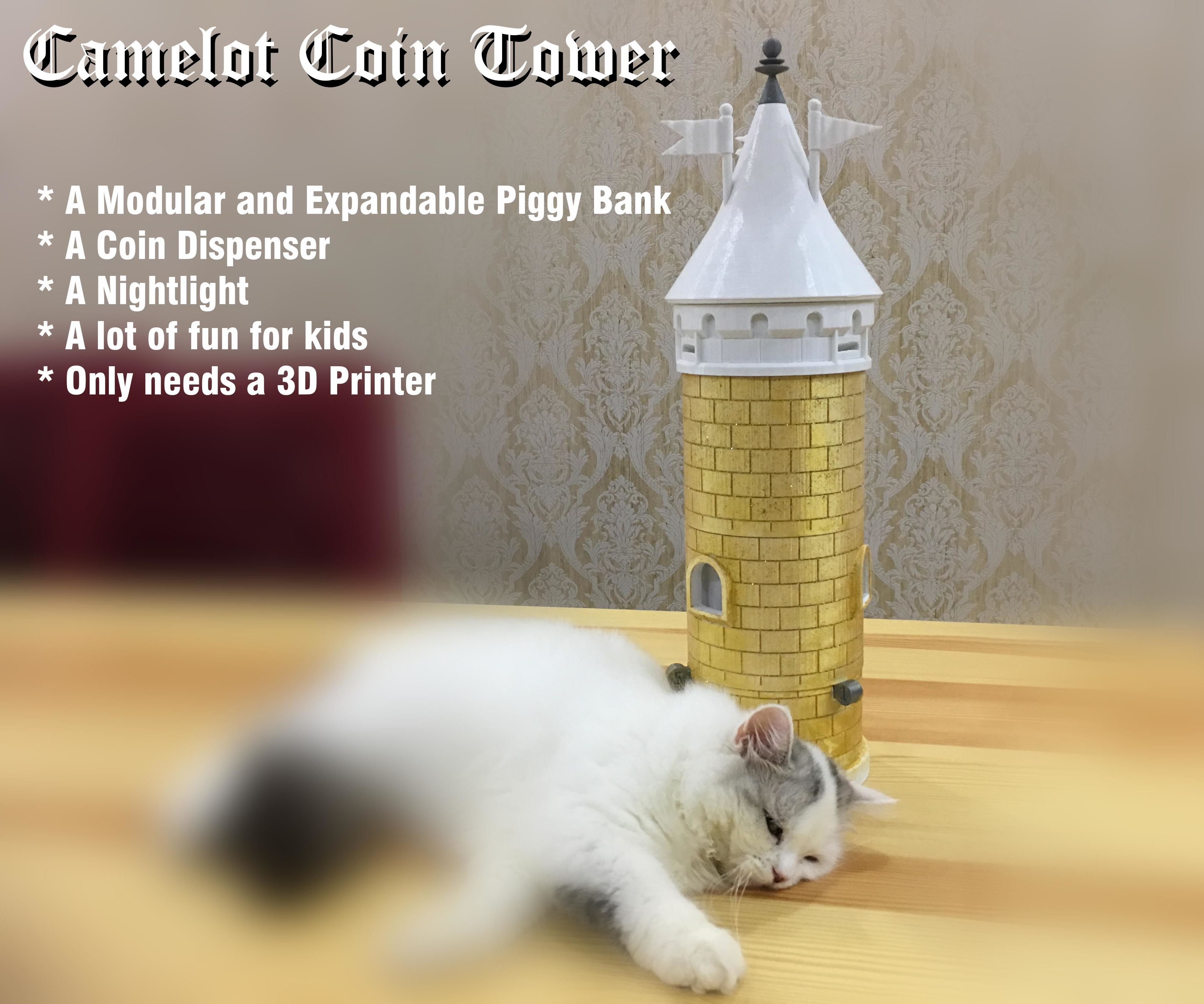 Camelot Coin Tower | 3d printing technology and 3D Printing