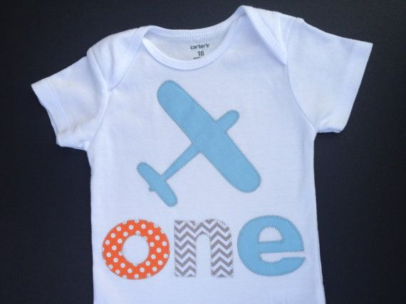 Airplane One First Birthday Shirt