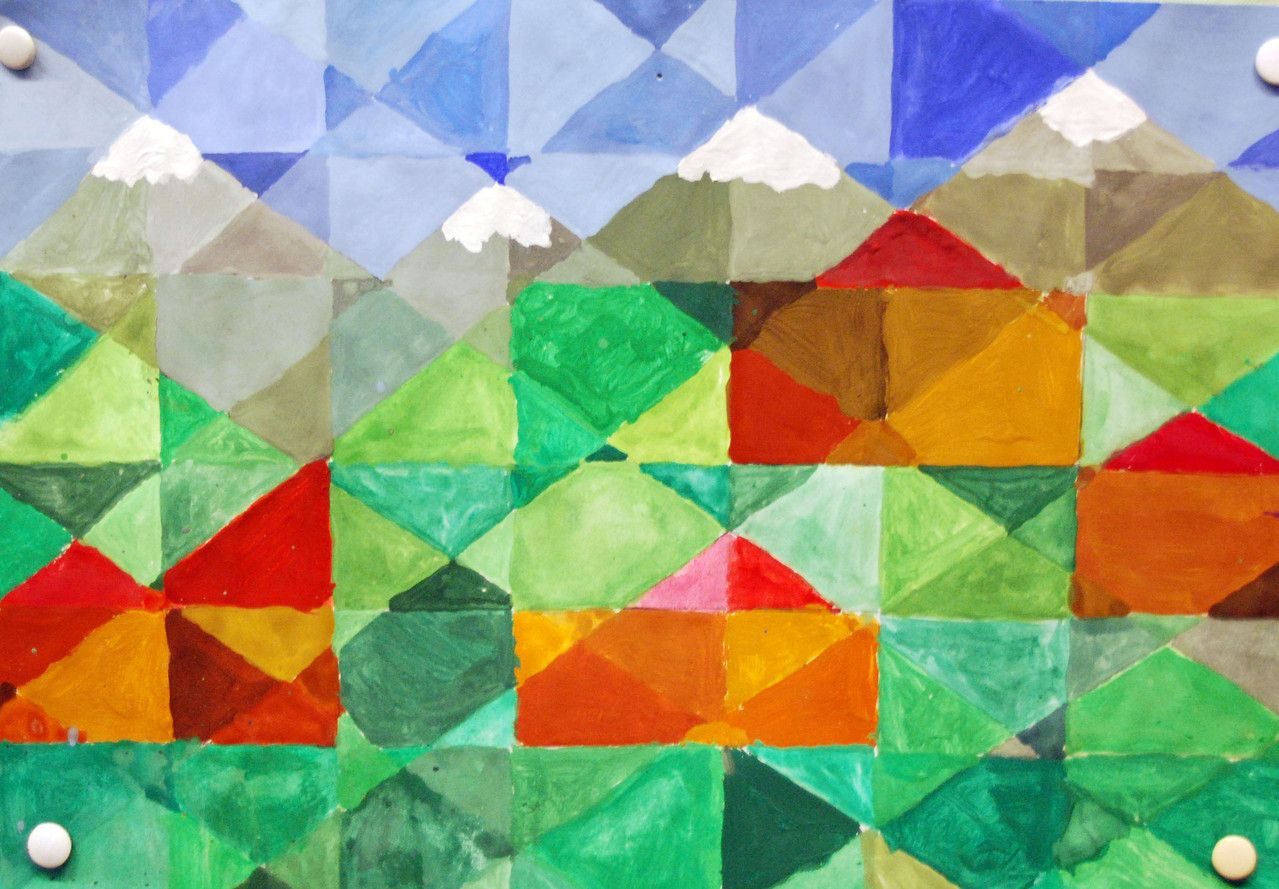 Einen Eisbecher mit Sahne malen, mit Deckfarben und Deckweiß Farben ...