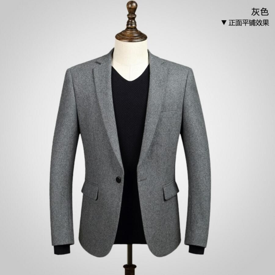 Click to buy ucuc men jacket hot sell fashion handsome style wool