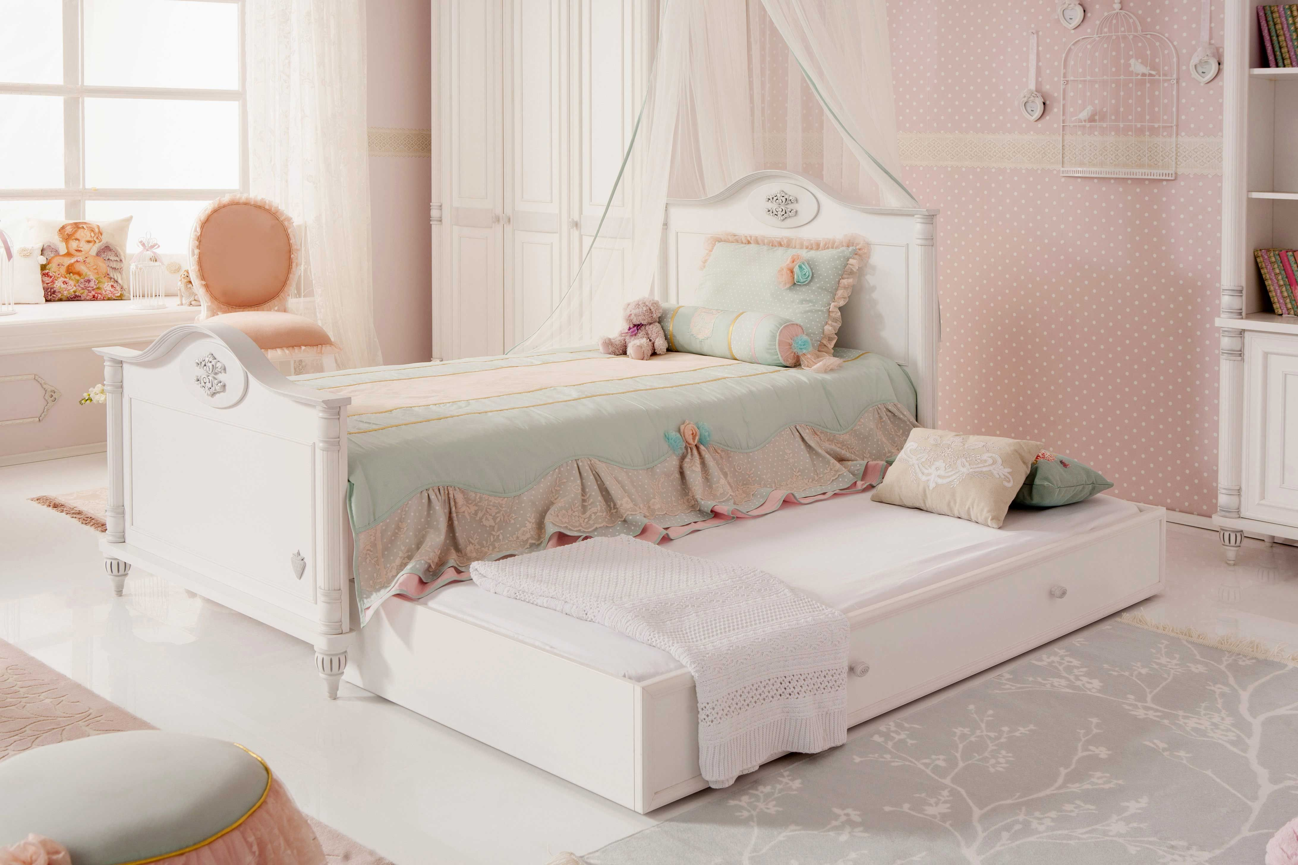 cilek romantic kinderbett mit g stebett kinderbetten. Black Bedroom Furniture Sets. Home Design Ideas