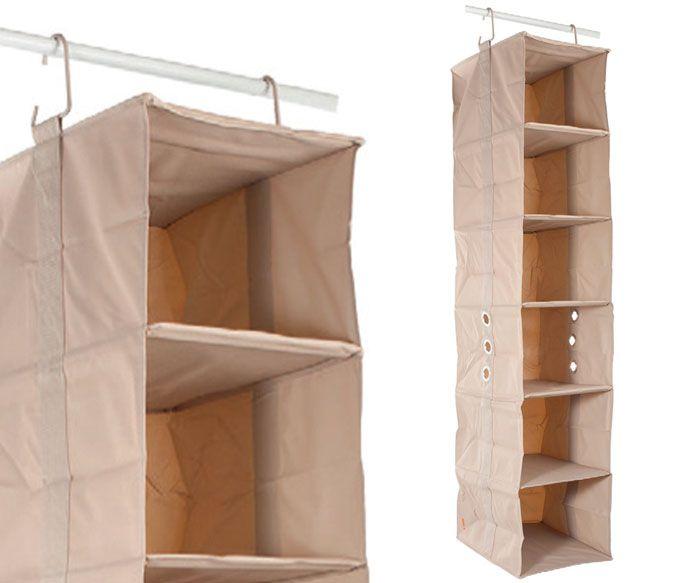 Armario Pequeño Ikea ~ Oito acessórios que ajudam a organizar o seu armário Bege