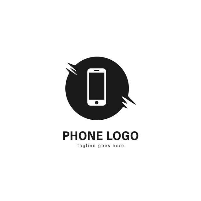 الهواتف الذكية الهواتف الذكية شعار قوالب تصميم الشعار مع إطار الحديث متفرقة على خلفية بيضاء Phone Logo Logo Templates Template Design