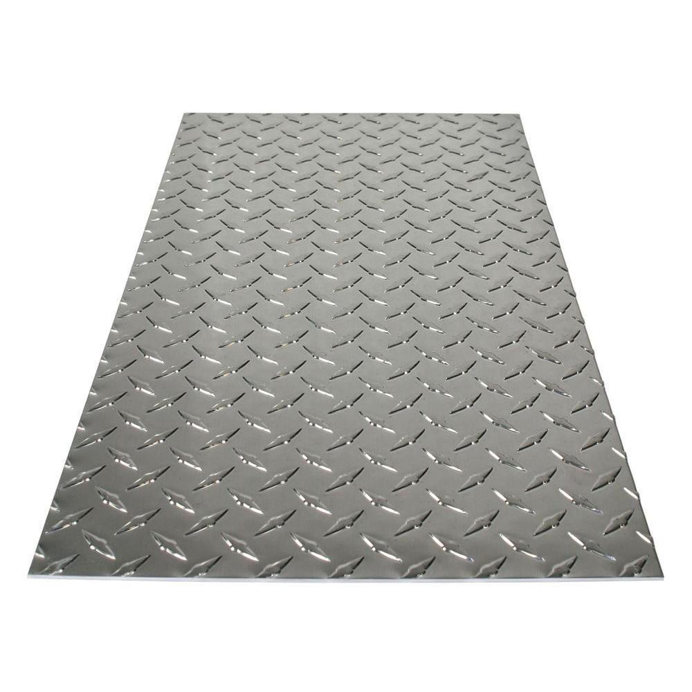 M D Building Products 36 In X 36 In X 0 025 In Diamond Tread Aluminum Sheet In Silver 57307 Aluminum Sheet Metal Metal Siding Aluminium Sheet