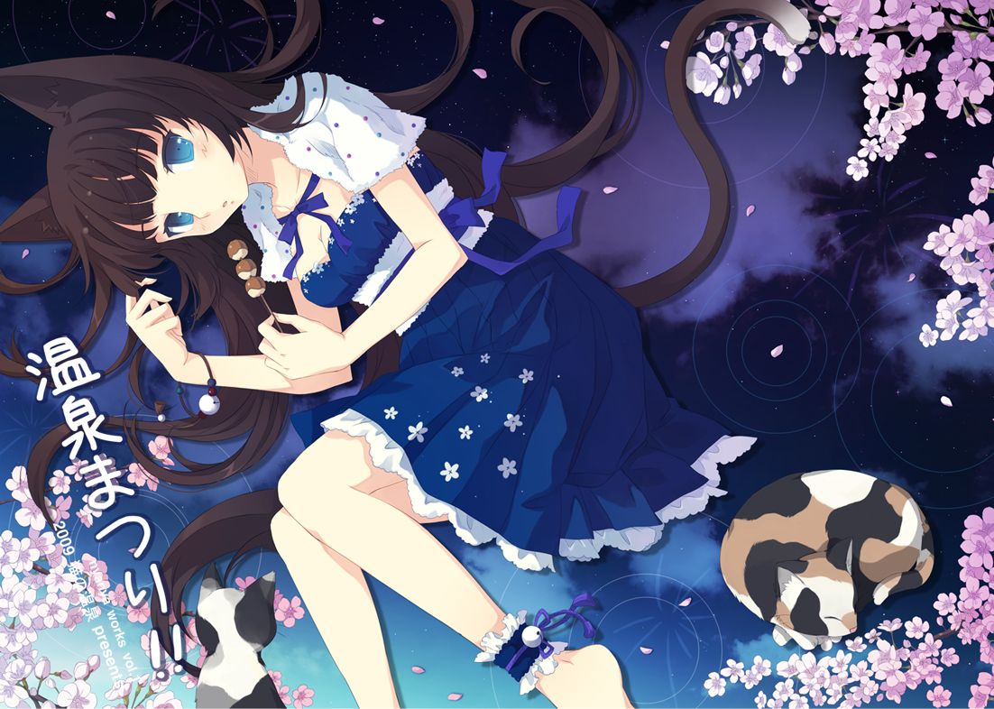 Anime Cat Girl With Brown Hair And Blue Eyes Google Search Cat