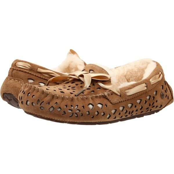 Store Online Womens Slippers UGG Dakota Flora Perf Chestnut Water Resistant Suede