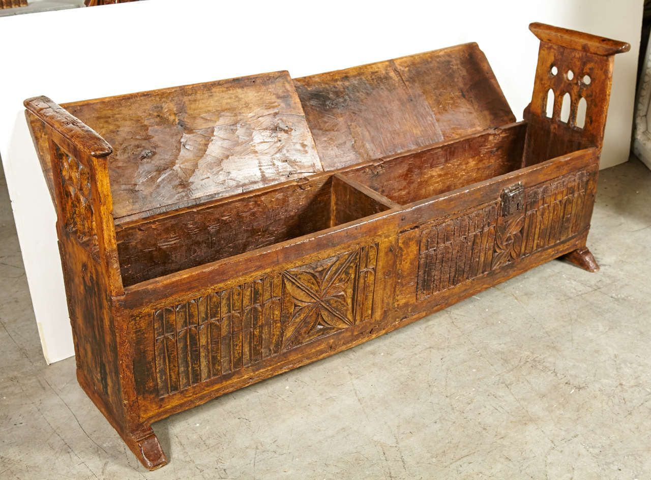 Middle Ages Bench Trunk Medieval Furniture Renaissance Furniture Woodworking Furniture Plans