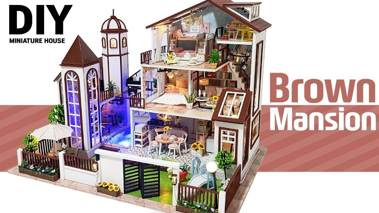 Diy Miniature Brown Mansion 3fㅣ브라운맨션 3층ㅣ미니어처하우스ㅣdollhouse Kitㅣ박소소 Youtube In 2020 Diy Dolls Tutorial Diy Dollhouse Miniature Diy