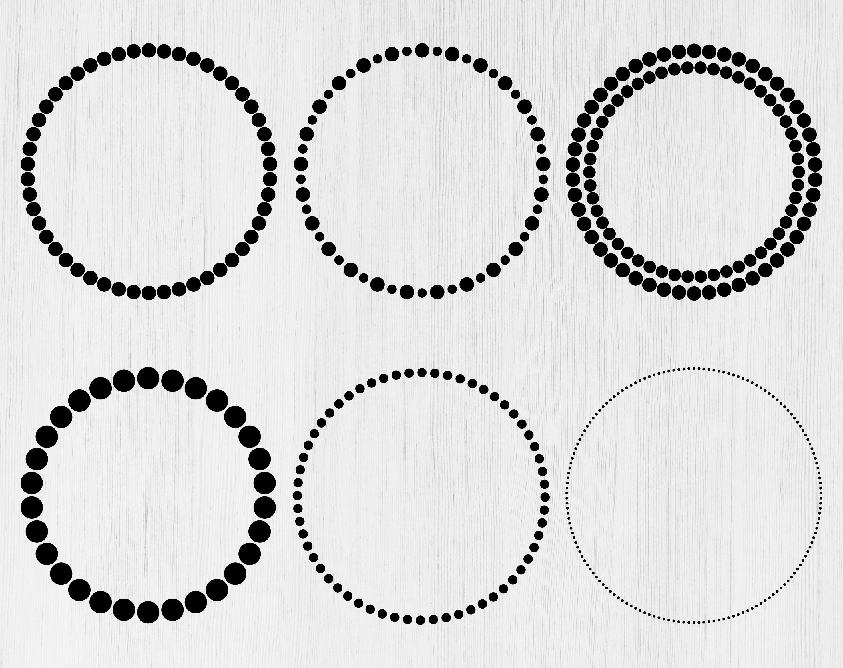 Dotted Circle Svg Dotted Circle Frame Svg Monogram Frame Svg Etsy In 2021 Circle Frames Monogram Frame Wedding Frames