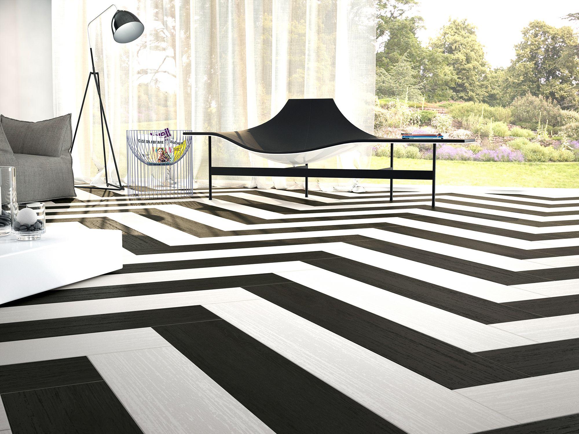 Ape Rotterdam Black & Ape Rotterdam White 20*114 - Kaakelikeskus #olohuone #eteinen #laatat